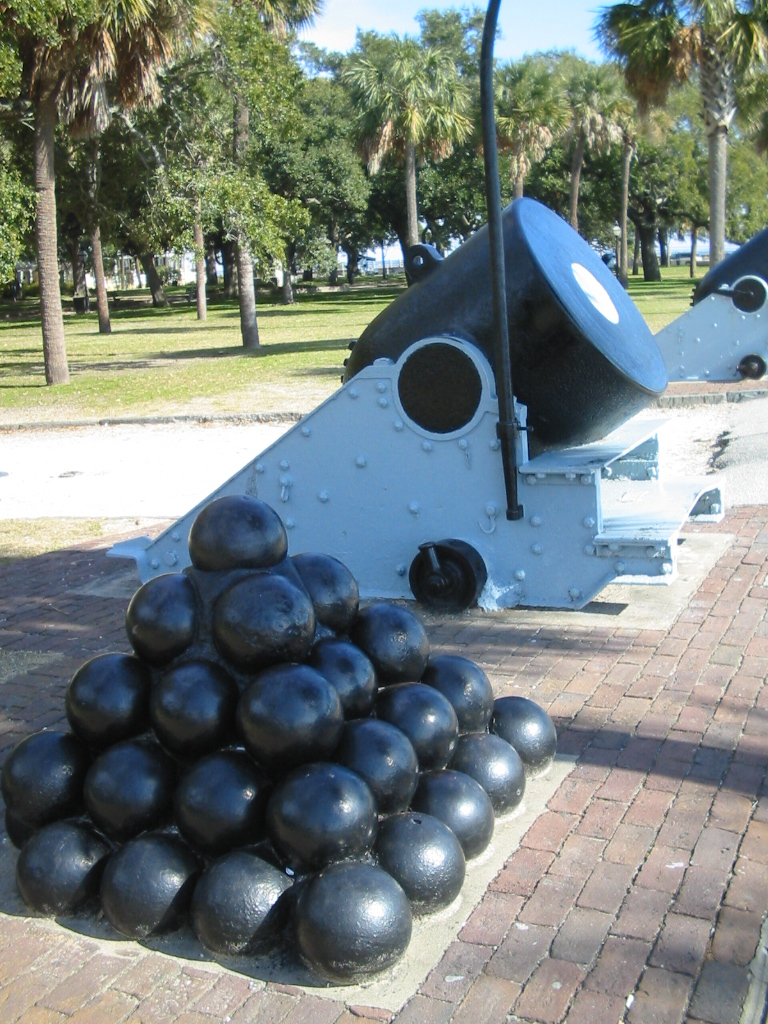 Battery Cannon in Downtown Charleston