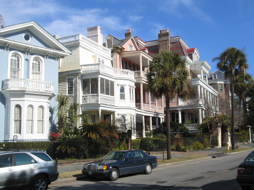History of charleston for Charleston row houses