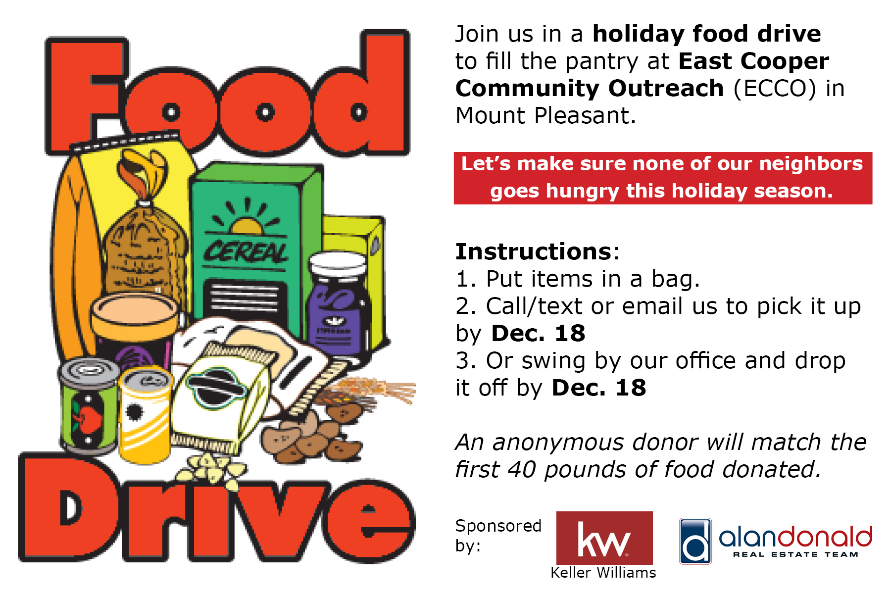 ECCO Holiday Food Drive