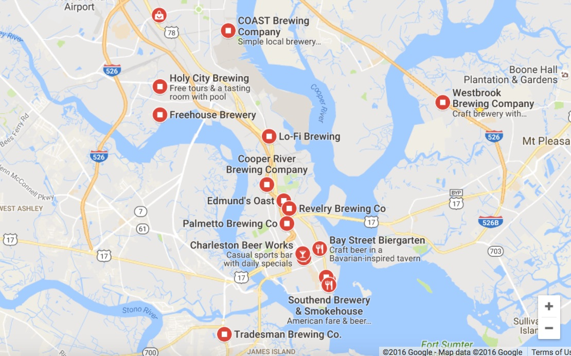Charleston SC Becomes a Brewing Paradise! on google maps coconut grove fl, google maps key west fl, google maps regina sk, google maps weston fl, google map charleston wv, google maps little river sc, google maps parris island sc, google maps south carolina, google maps st. augustine fl, google maps sitka ak, google maps yokosuka japan, old maps charleston sc, google maps clemson sc, google maps long island ny, google maps port canaveral fl, google maps brattleboro vt, google maps murrells inlet sc, google maps new haven ct, google maps memphis, google maps lake wylie sc,