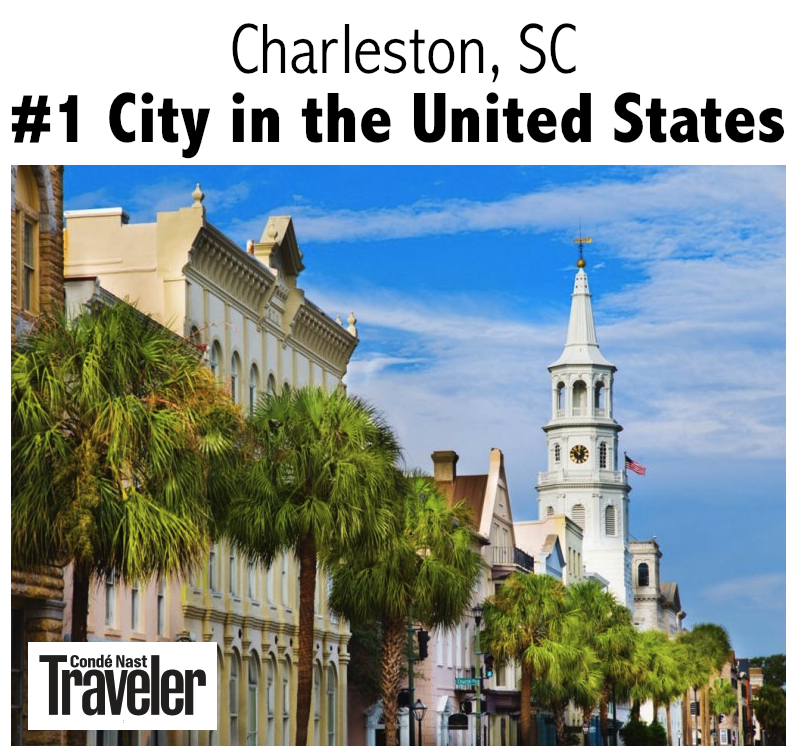 Conde Nast Traveler - Charleston SC No. 1 City in America