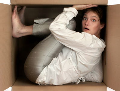 Buyer Motivations - Woman in Crammed Box