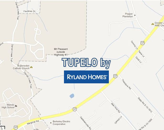 Tupelo, New Home Community by Ryland Homes in Mount Pleasant, SC