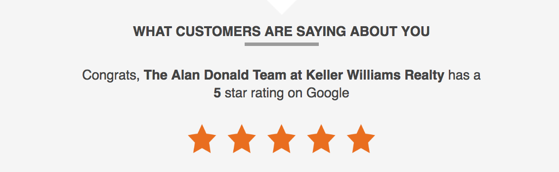 Alan Donald Real Estate Team 5-Star Google Reviews